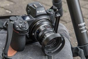 ZEISS Biogon ZM 35 mm 1: 2,0 Objektiv an der NIKON Z7 Z6, Ocamo-Adapterring. Foto: Klaus Schörner