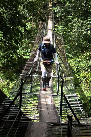 一人限定の吊り橋 ちょっとスリルがありました