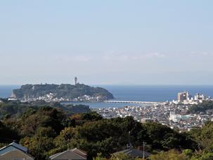 鎌倉山から見た江ノ島