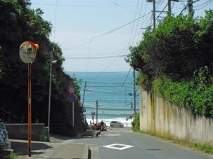 鎌倉高校から海を見て2018年6月