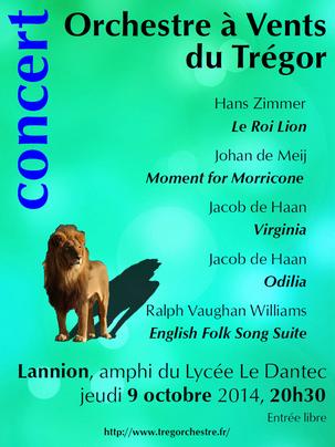Concert orchestre symphonique trégor lannion