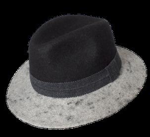 Murtalerhut 2färbig Anthrazit - Grau Schladminger