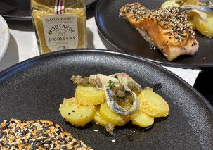 Salade de pommes de terre Ratte aux câpres et moutarde onctueuse Martin-Pouret