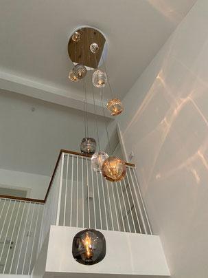 "Kundenfoto Treppenhaus 9er-''CUBIE"" als Cluster"
