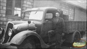 Mine de Leucamp à Bancarel - chauffeur et camionnette