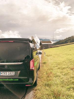 berge Alpen tirol van vanlife mercedes benz