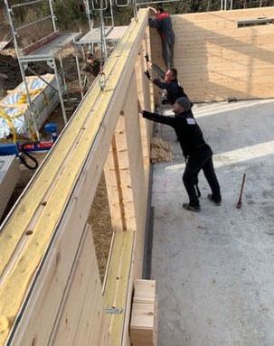 Blockhaus Baustelle in Niedersachsen  -  Singlehaus - Finnisches Holzhaus - Blockhausbau - Minden - Holzminden-  Bodenwerder - Zimmerei - Planung - Hausplanung - Hausbau - Holzbau - Ökologisch Bauen - Massivholzhaus - Ökohaus - Neubau