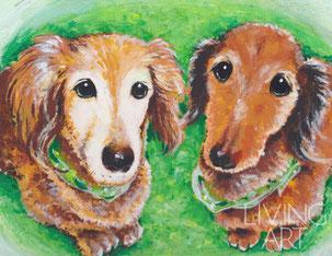 ペットの似顔絵 愛犬 記念品 贈り物 似顔絵