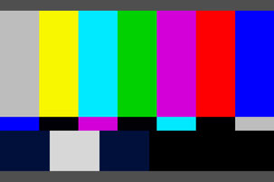 テレビCM放送素材のカラーバーでノンモン説明用