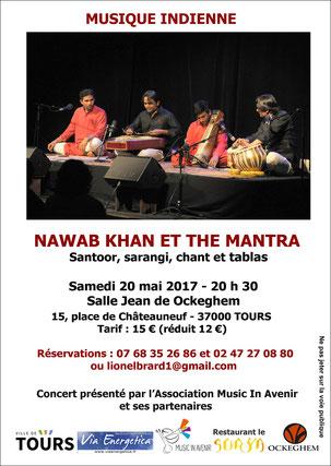 Nawab Khan et The Mantra, le samedi 20 mai à Tours