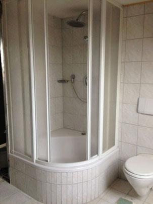 alte Dusche rausgerissen