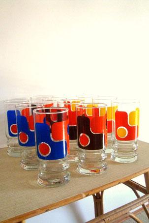verres vintage années 70