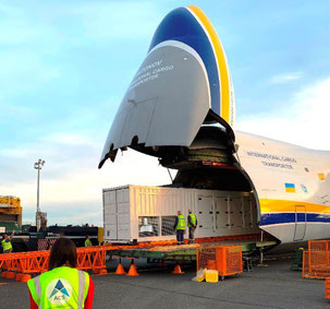 ACS chartered Kiev-based AN-124 freighters for their Niger project