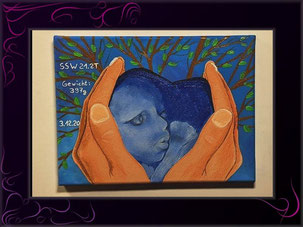 ultraschallbild in ein kunstwerk verwandeln-kunst meiner seele