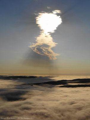 Mer de nuages au dessus de la vallée du Lot....