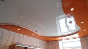Монтаж натяжного потолка после оклейки обоями.