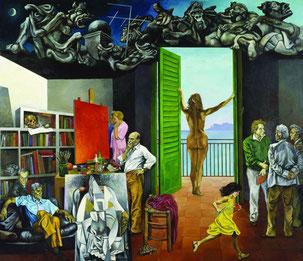 Renato Guttuso Spes contra Spem 1982 Olio su tela Varese, Fondazione Francesco Pellin