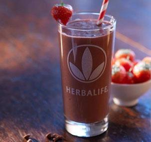 Schoko-Shake mit Erdbeeren