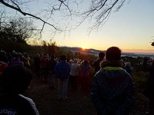 谷津山から望む初日の出