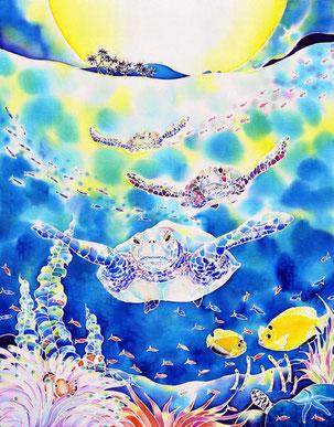 人気No.1 ! 版画(ミストグラフ) ちゅら海ナイト