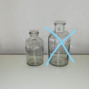 Schlichte kleine Flasche