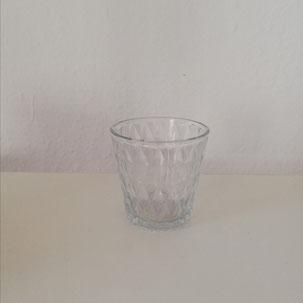 Kleiner Teelichthalter klar in Glas als Tischdekoration aus Dekoverleih in Bielefeld