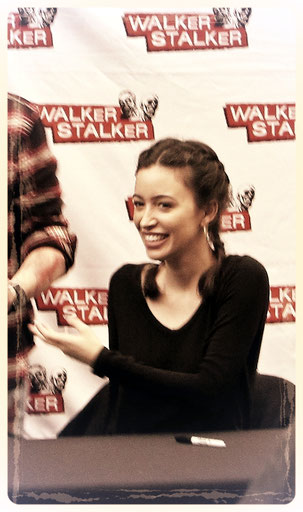 Christian Serratos (rosita The Walking Dead) at Walker Stalker Con London 2016