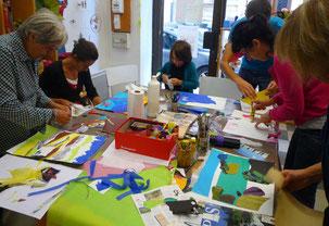 Atelier de dessin et peinture en famille à Grenoble