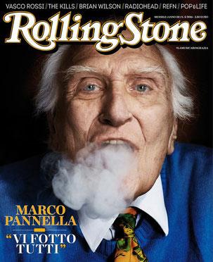 La prossima copertina di Giugno di Rolling Stone vede un ritratto di Marco Pannella realizzato da Giovanni Gastel