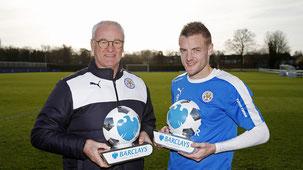 Ranieri e Vardy: campioni con il Leicester