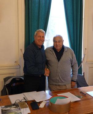 De gauche à droite : Denis Van Gysel et Pierre Laurier.