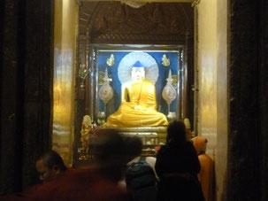 Buddha statue in the Boddha- Gaya Tower