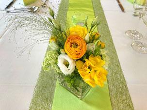 Grün-Gelb als Hochzeitsfarben