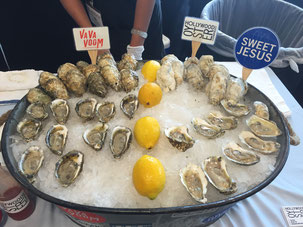 Colorfully-named oysters at this year's tradeshow