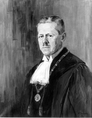 Uhlig als Rektor der Universität Tübingen. Bild mit CC00-Lizenz, Autor unbekannt.