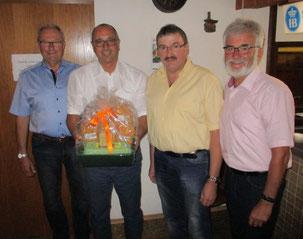 von links: Anton Schmid, Stephan Herreiner, Josef Ott und Max Kapfer