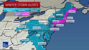 Winterstorm Juno auf The Weather Channel