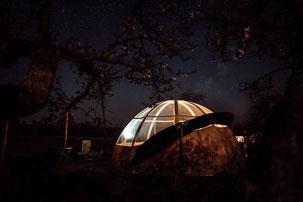 Dormir le nez dans les étoiles dans une bulle romantique en Baie de Somme Picardie