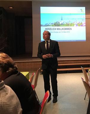 Gut gelaunt wie immer: Jörg Kündig, Gemeindepräsident von Gossau