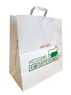 Auch Konditoreien und Metzgereien sollten Papiertaschen ansprechend bedrucken lassen.