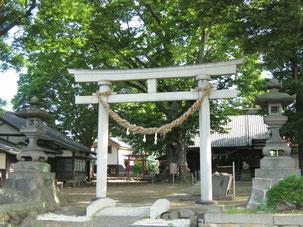 白鳥神社の鳥居と社殿