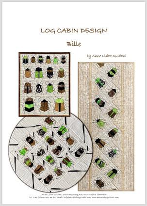 """Mønster Log Cabin Design """"Bille"""""""