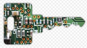 Clé electronique circuit transpondeur