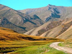 der Weg hinaus auf die unendlich weite Hochland-Route