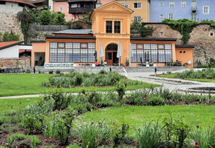Hier ein Bild von der Orangerie von Außen!