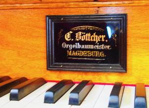 eine echte Böttcher Orgel wurde noch benutzt