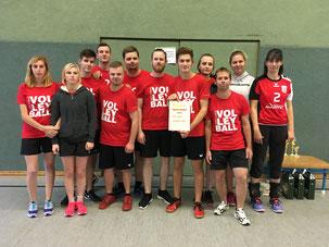 Junges Volleyballteam von GSBV Halle/S.