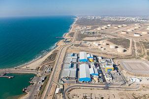 Desalinizadora de Ashkelon. La más grande del mundo.