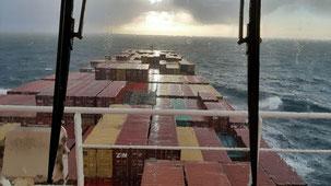 Bild: Das Containerschiff