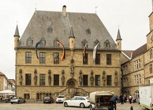 Bild: Das spätgotische Rathaus von Osnabrück
